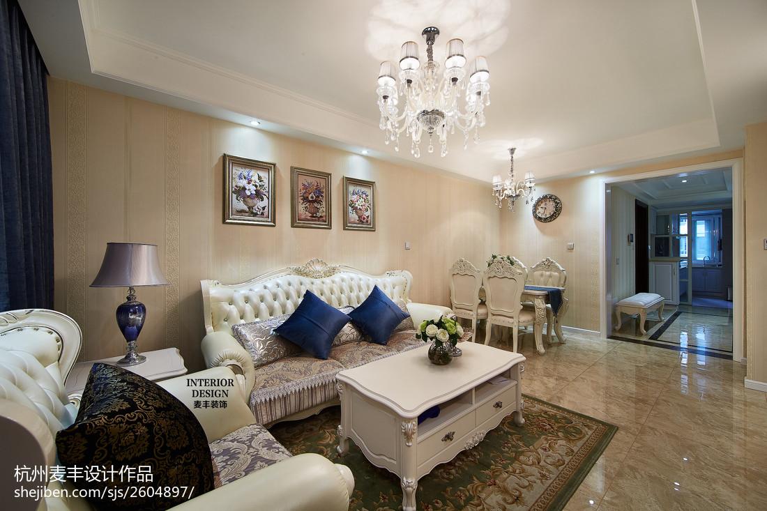 现代欧式客厅装修图片欣赏