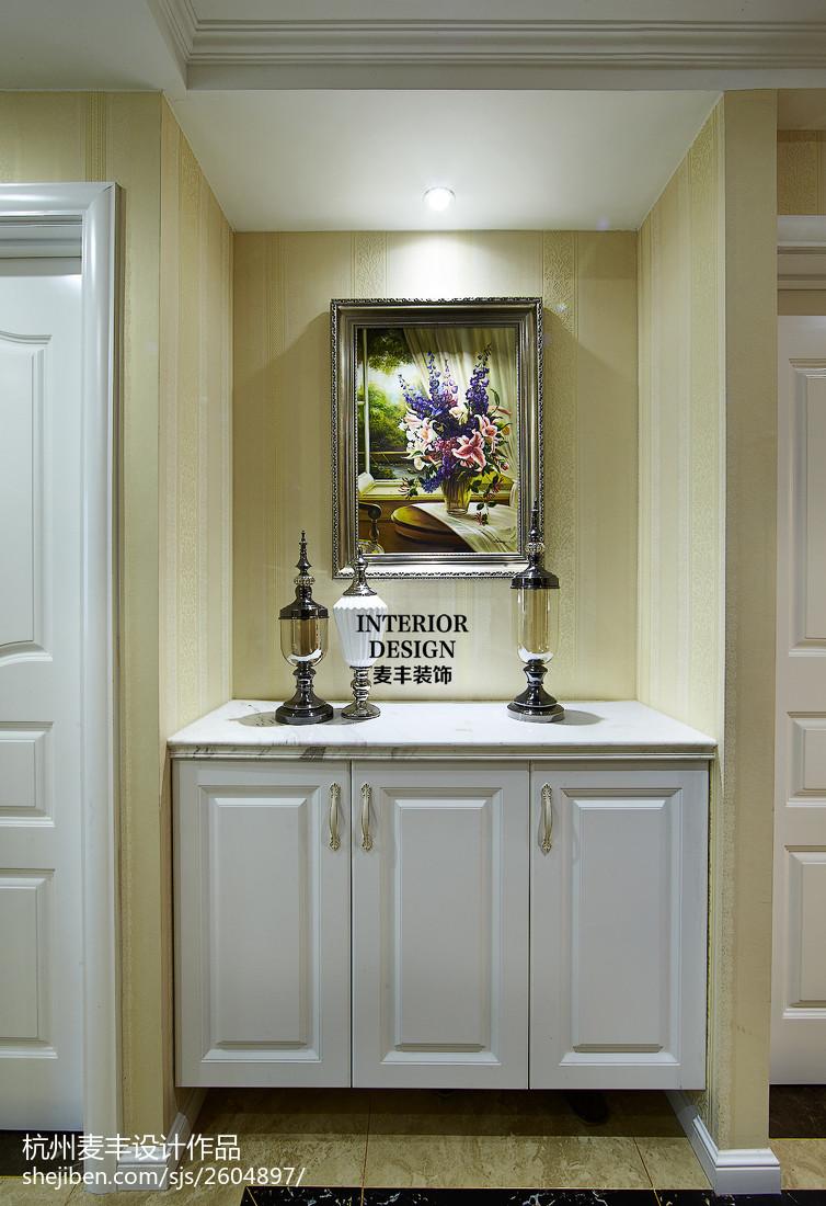 现代欧式玄关柜子装修图片
