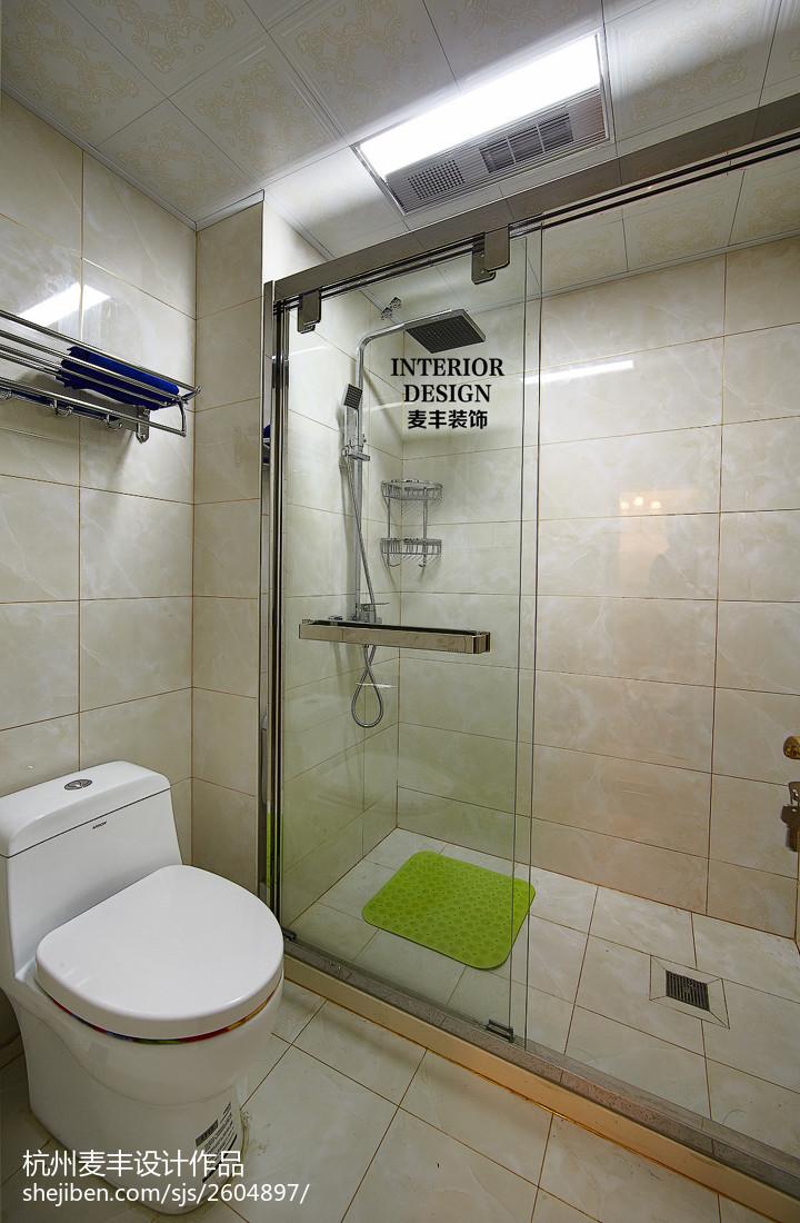 面积109平欧式三居卫生间装修设计效果图片
