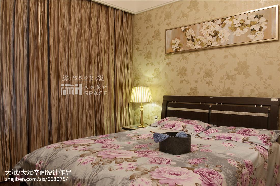 精美103平方三居卧室欧式装修效果图片欣赏