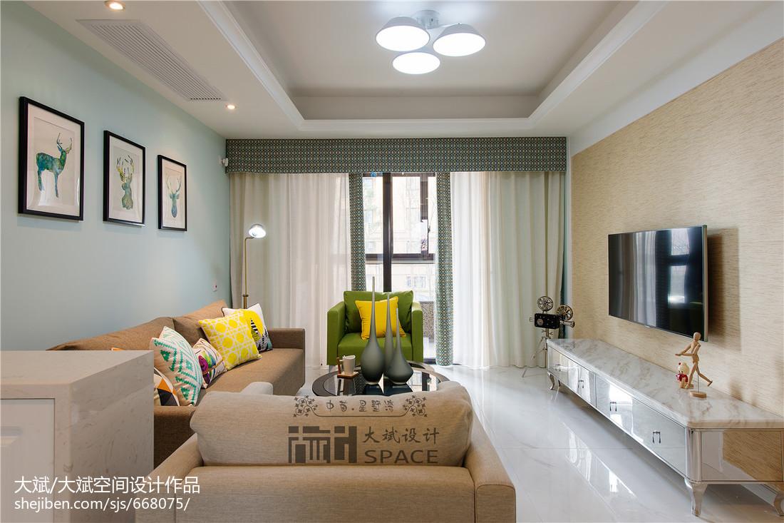 热门77平方二居客厅现代装修欣赏图片大全