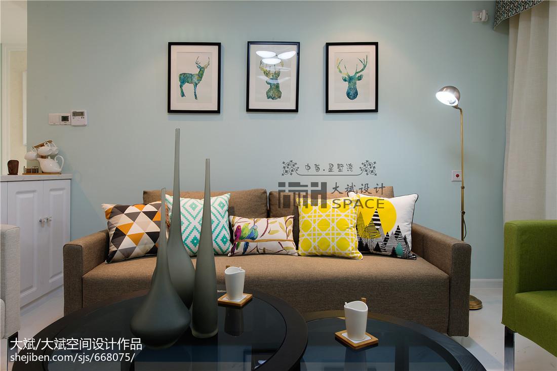 面积76平现代二居客厅装修欣赏图片