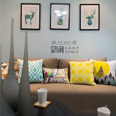 201879平方二居客厅现代效果图片大全