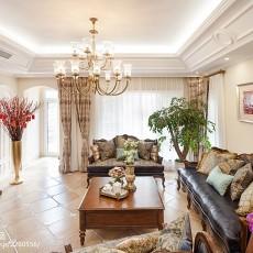 精美125平米美式别墅客厅欣赏图片大全
