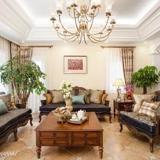 精美面积144平别墅客厅美式效果图片