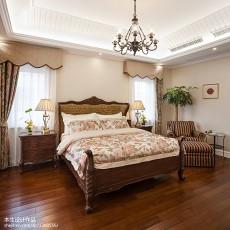 面积143平别墅卧室美式装修实景图片