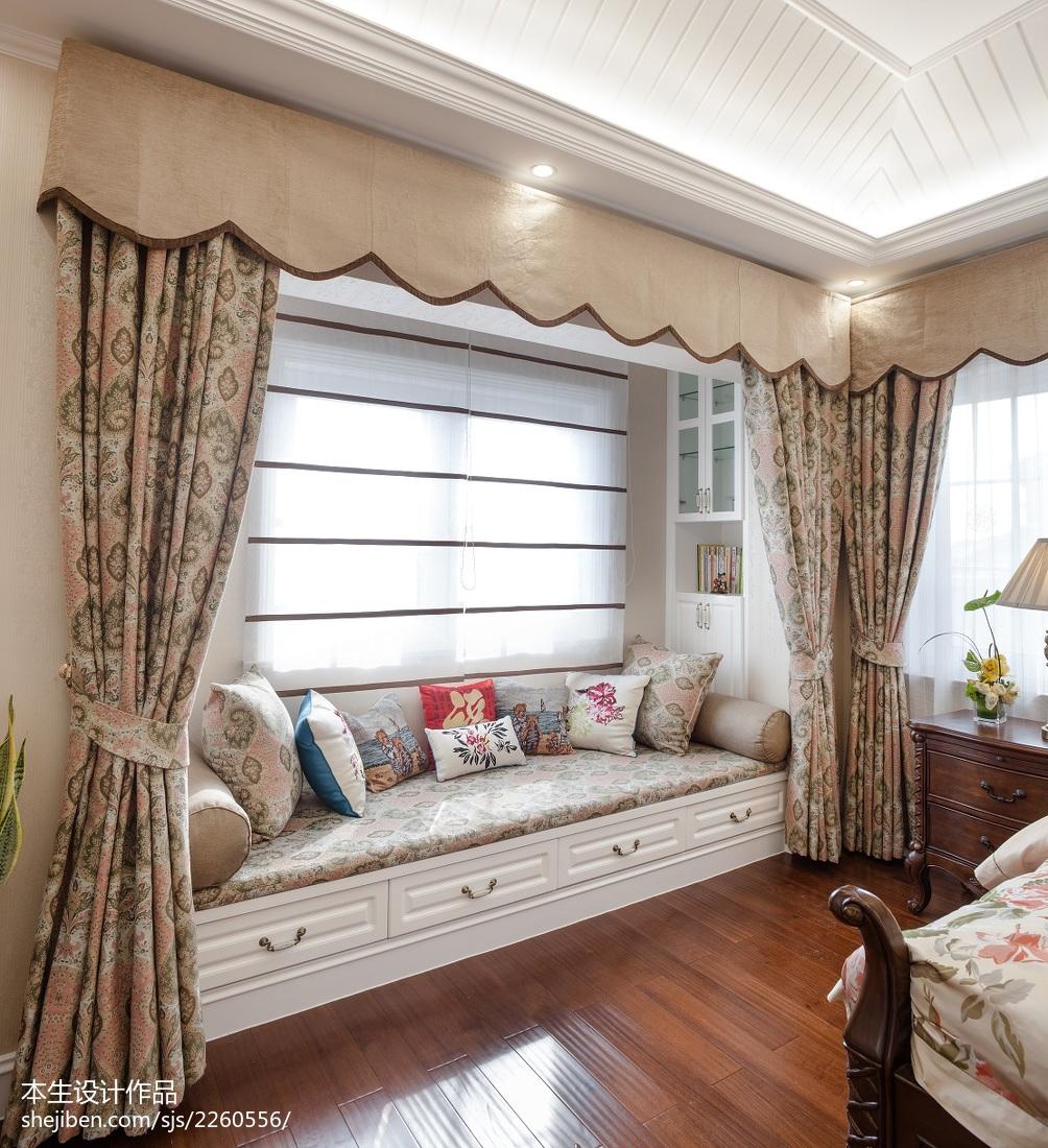 美式臥室榻榻米裝修圖片