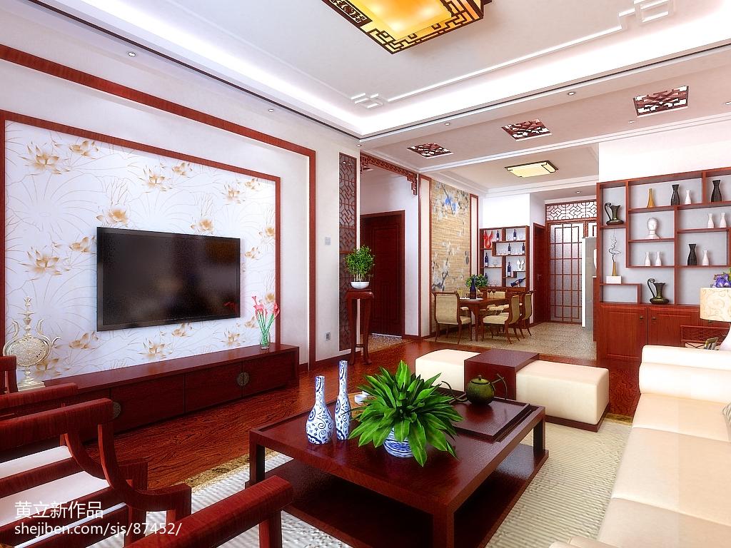 中式电视背景墙图