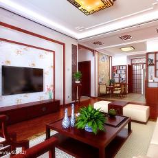 热门面积91平中式三居客厅实景图片欣赏