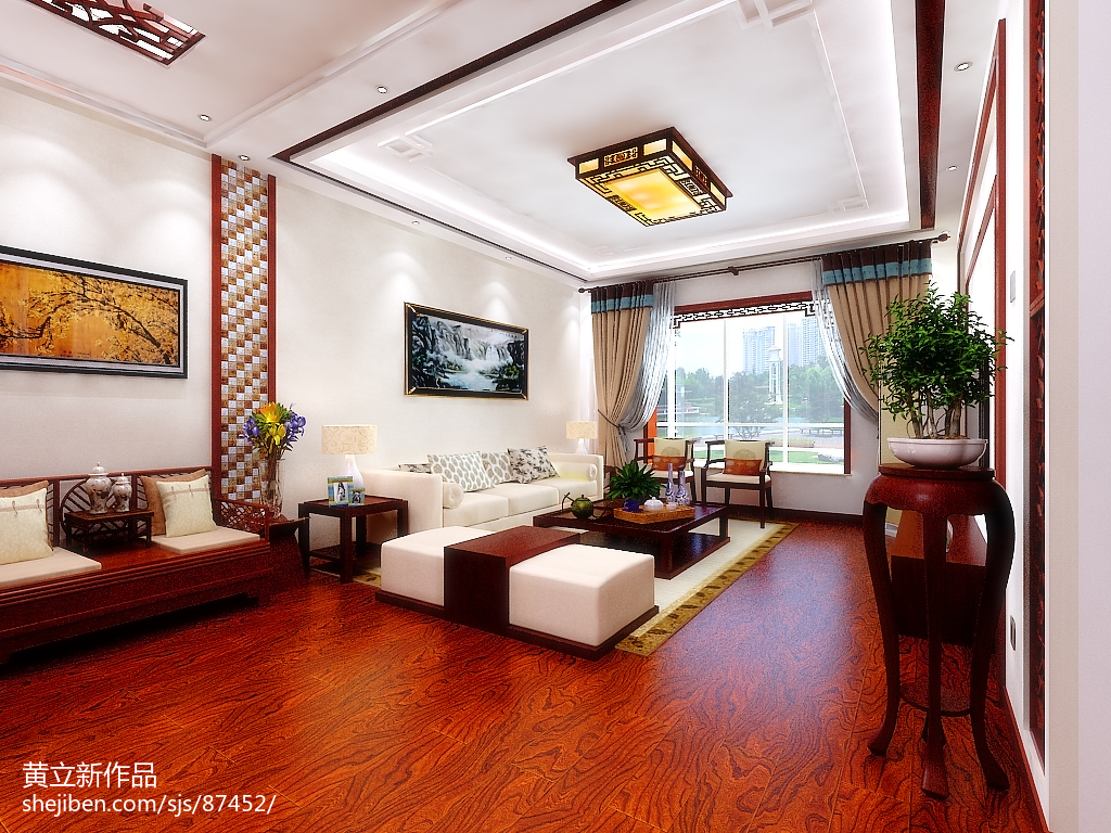 新中式客厅红木家俱