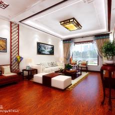 2018精选大小103平中式三居客厅装修设计效果图片欣赏