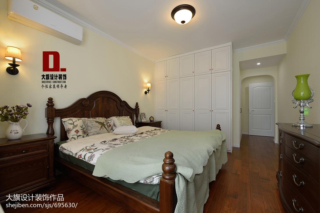 2018109平米三居卧室美式装修欣赏图片大全