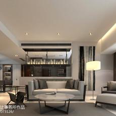 2018115平米四居客厅现代装修效果图片欣赏