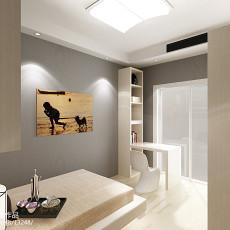 面积98平现代三居卧室效果图