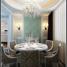 精选71平米二居餐厅欧式装修实景图片大全
