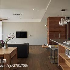 2018精选面积86平小户型客厅现代装修设计效果图