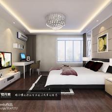 2018精选105平米三居卧室现代装修实景图