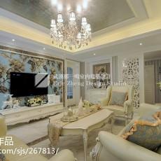 2018精选96平米三居客厅新古典装修欣赏图
