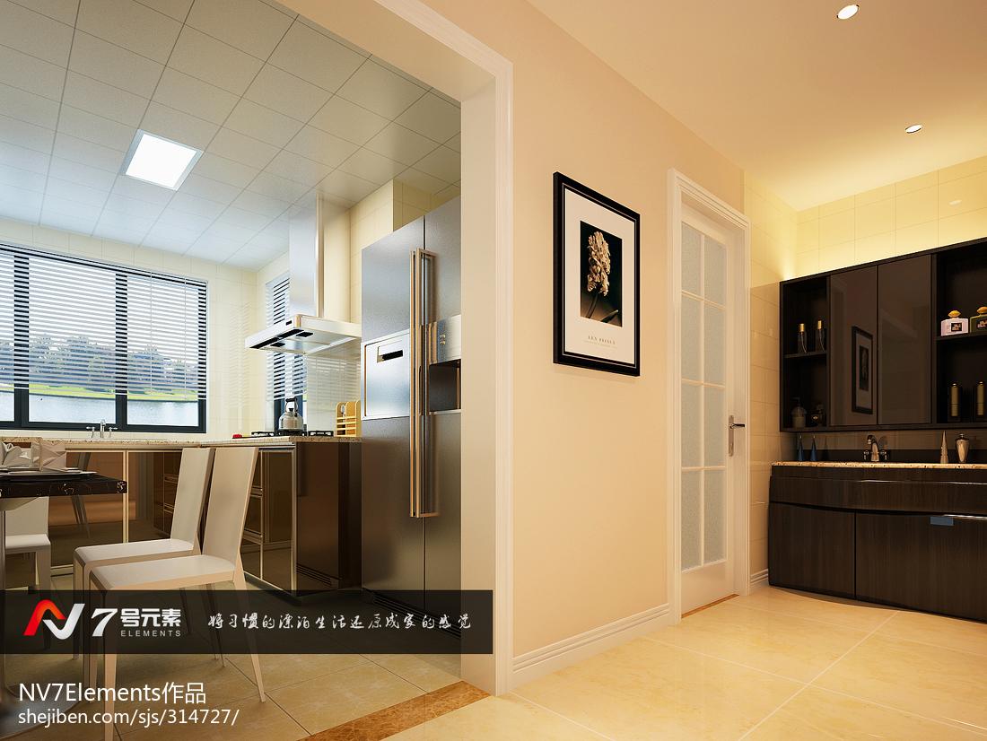 四居室大面积厨房装修效果图大全2014图片