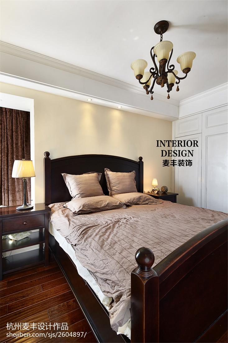 热门106平米三居卧室美式效果图片