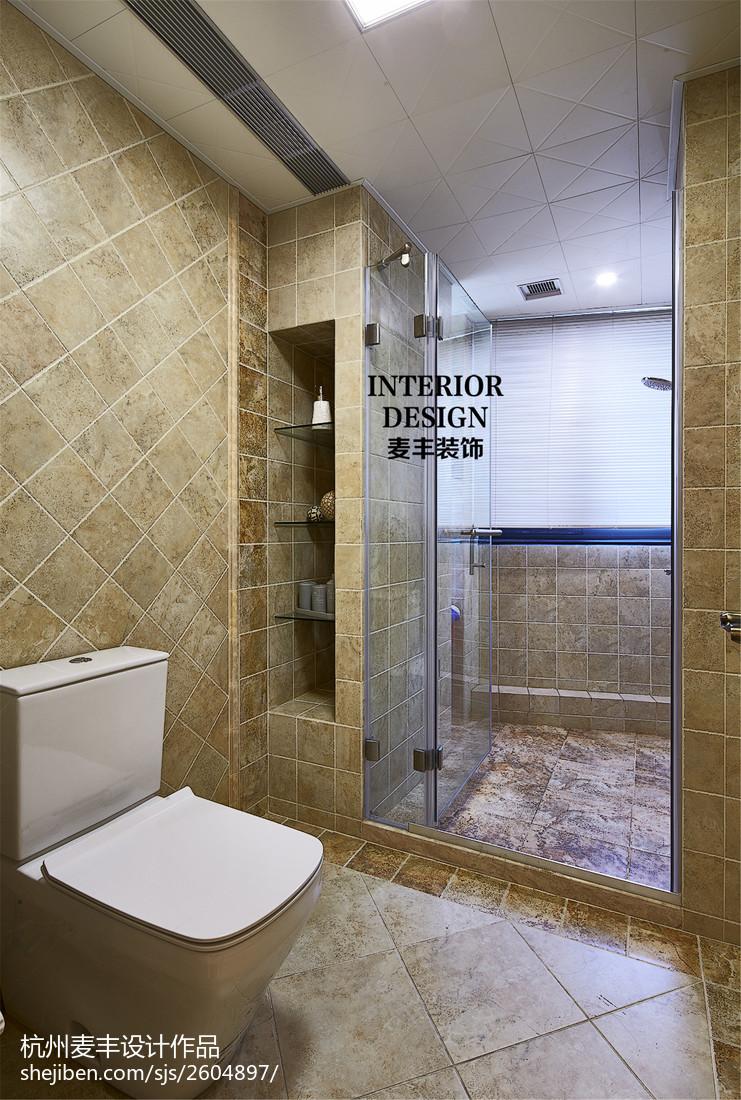 2018精选美式三居卫生间装修设计效果图片大全