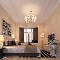 热门面积95平欧式三居卧室装修设计效果图片大全