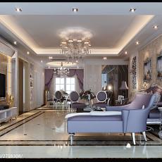 精选大小103平欧式三居客厅装修设计效果图片欣赏