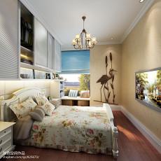 精选96平米三居客厅田园装修欣赏图片