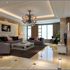 大小139平现代四居客厅实景图片欣赏