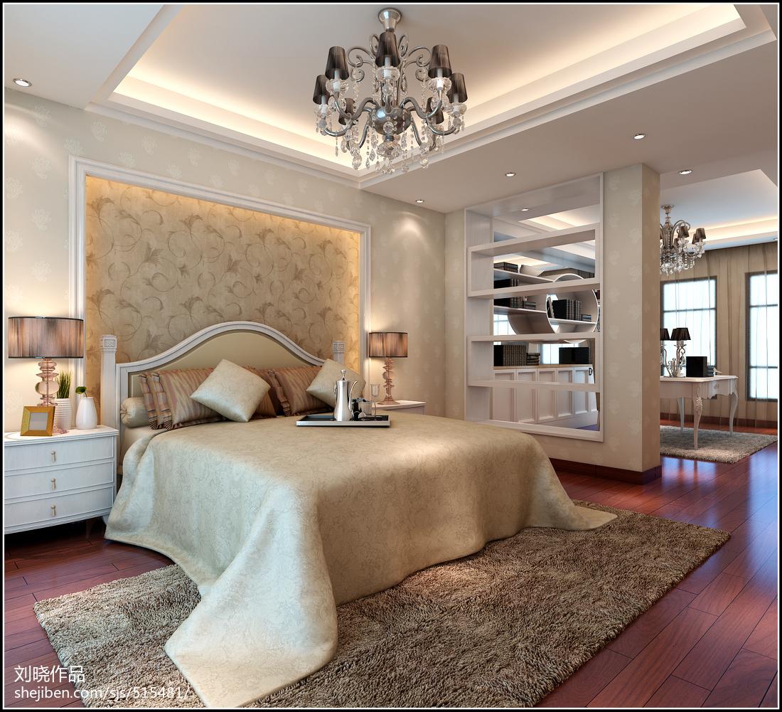 现代简约装修风格卧室背景墙效果图