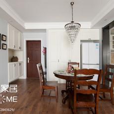 精美92平米三居餐厅美式装饰图片欣赏