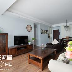 精美107平米三居客厅美式装修效果图片欣赏