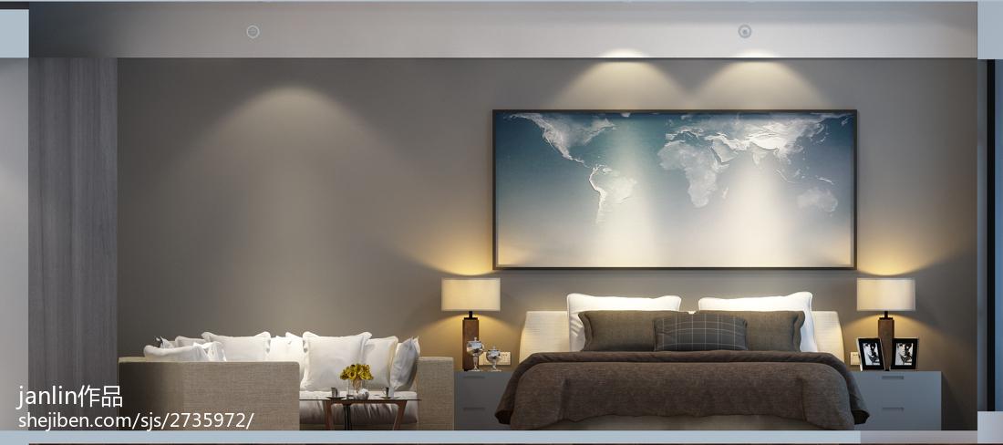 饱和的色彩打造现代小户型卧室装修效果图大全2014图片