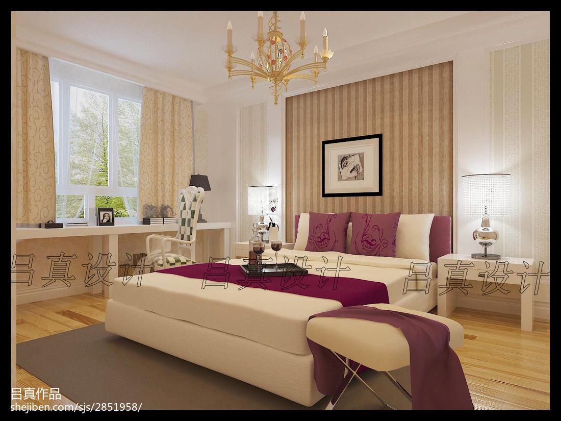 12万打造78平米美式风格卧室装修效果图大全2012图片