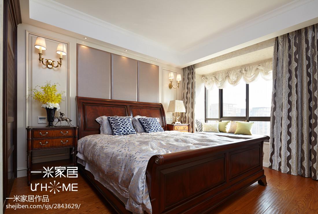 热门面积131平欧式四居卧室欣赏图