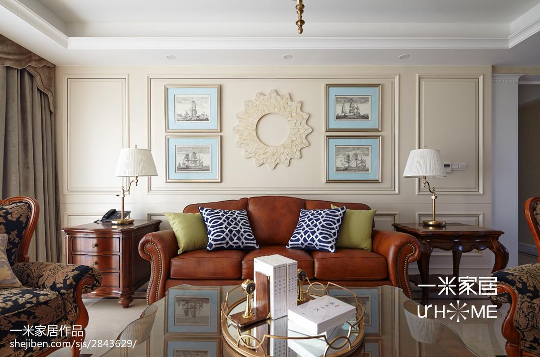 2018精选144平米四居客厅欧式装修设计效果图片