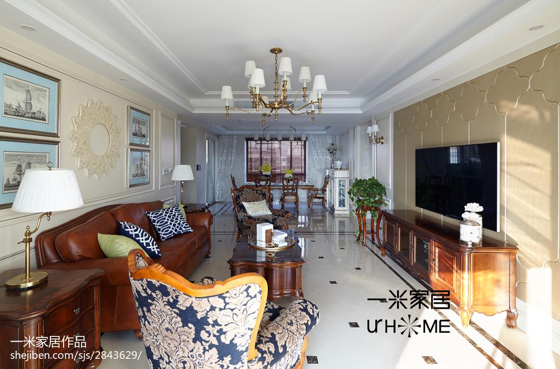 2018面积132平欧式四居客厅装修图