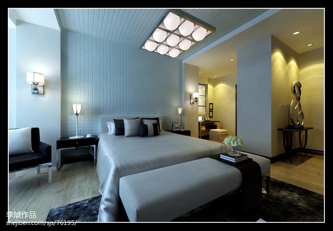 2018精选面积130平复式卧室现代装修设计效果图片欣赏