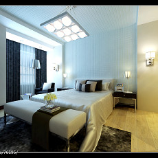 精选113平米现代复式卧室装修设计效果图片大全