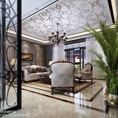精美118平方混搭别墅客厅装修效果图片大全