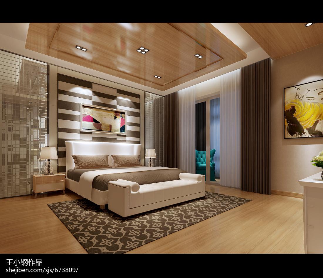 133平米现代复式卧室装饰图
