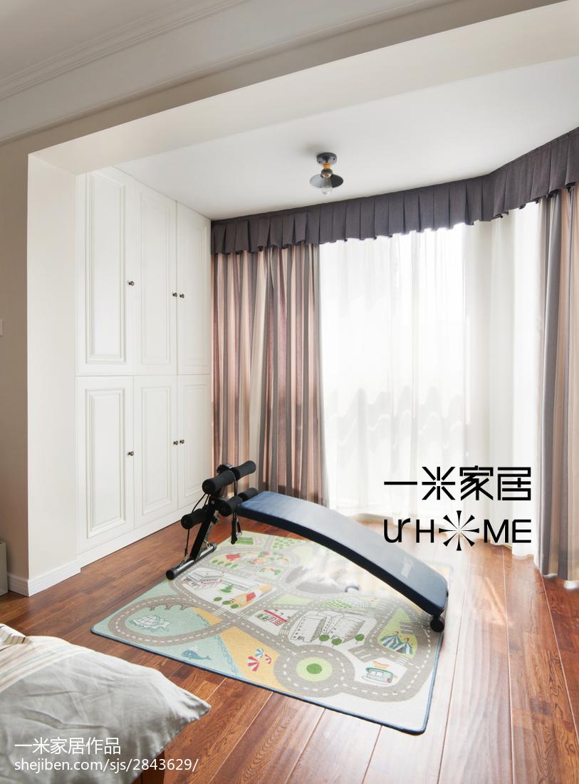 精美美式复式卧室实景图片大全