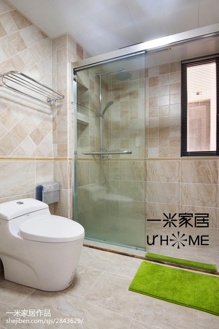 华丽49平美式复式卫生间装修效果图