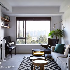 精选76平米现代小户型客厅实景图片大全