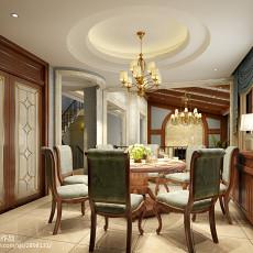 热门面积128平别墅餐厅欧式装修图