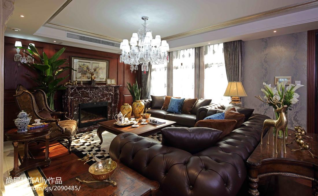 面积131平别墅客厅欧式效果图片欣赏