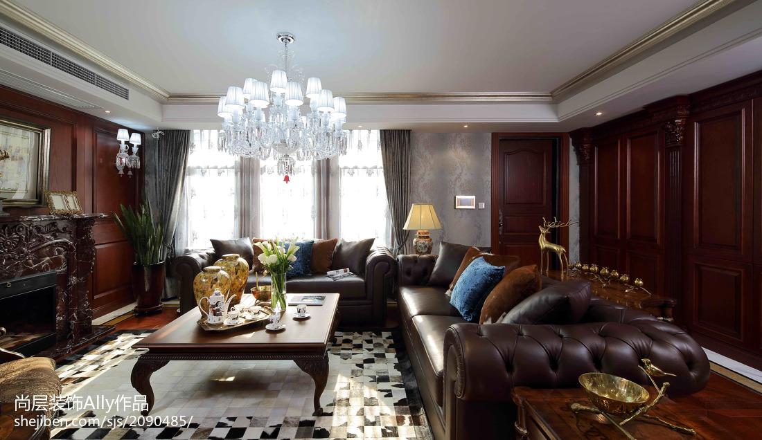 2018143平米欧式别墅客厅设计效果图
