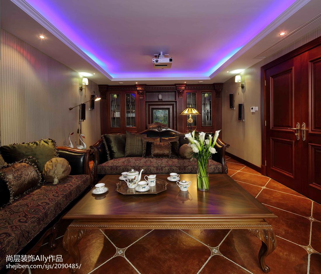 精美123平米欧式别墅客厅装修设计效果图片大全