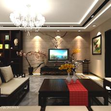 热门中式四居客厅装饰图片