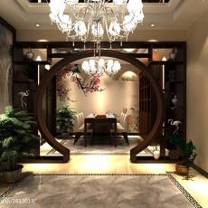 精美144平米四居玄关中式装修欣赏图片大全